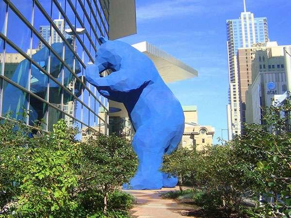 Big Blue Bear Statue